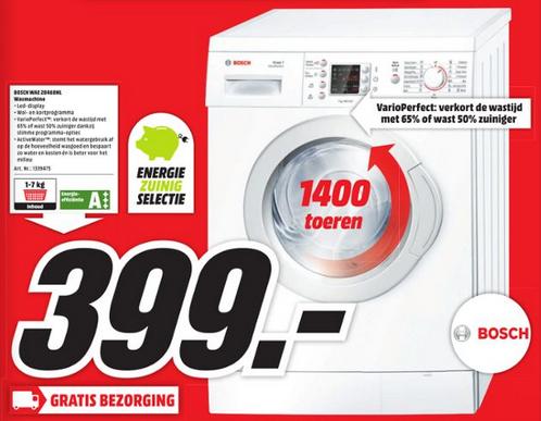 BOSCH WAE28468NL Wasmachine voor €399,- @ Media Markt