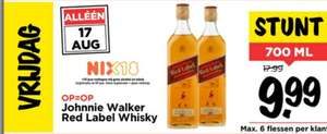 Johnnie Walker Red label whisky voor 10 euro