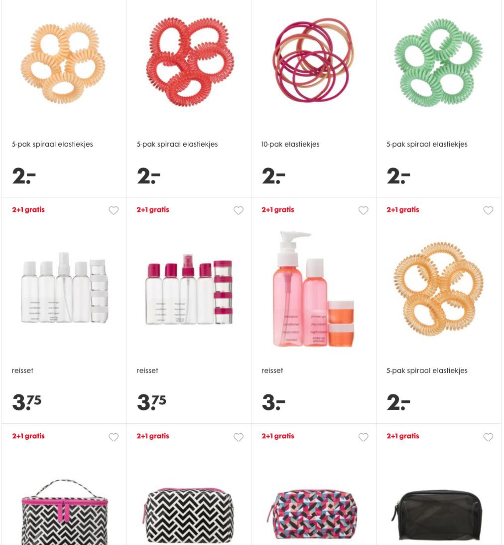 2+1 op beauty accessoires en gezichtsmaskers
