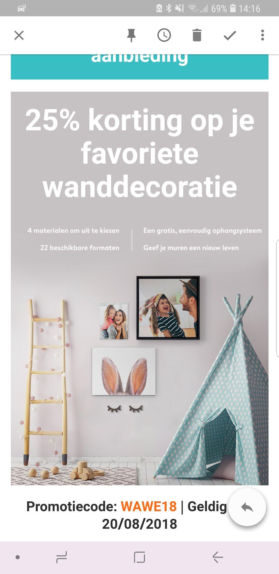 25% korting op je favoriete wanddecoratie