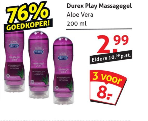 Durex play massagegel aloe vera 3 voor de prijs van 1!