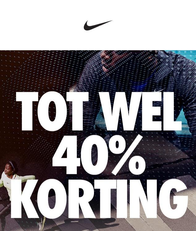Tot 40% korting op geselecteerde stijlen @Nike