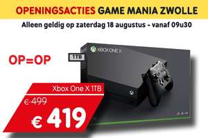 Xbox one X voor 419 euro @ Game Mania Zwolle