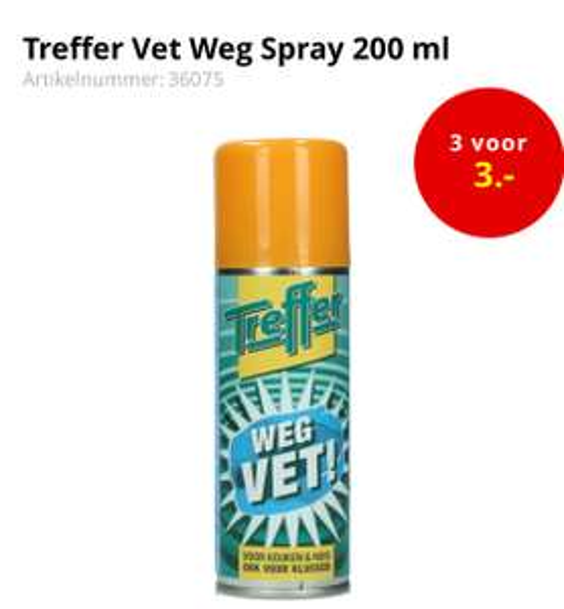 Treffer Vet Weg Spray 200 ml @opisopvoordeelshop