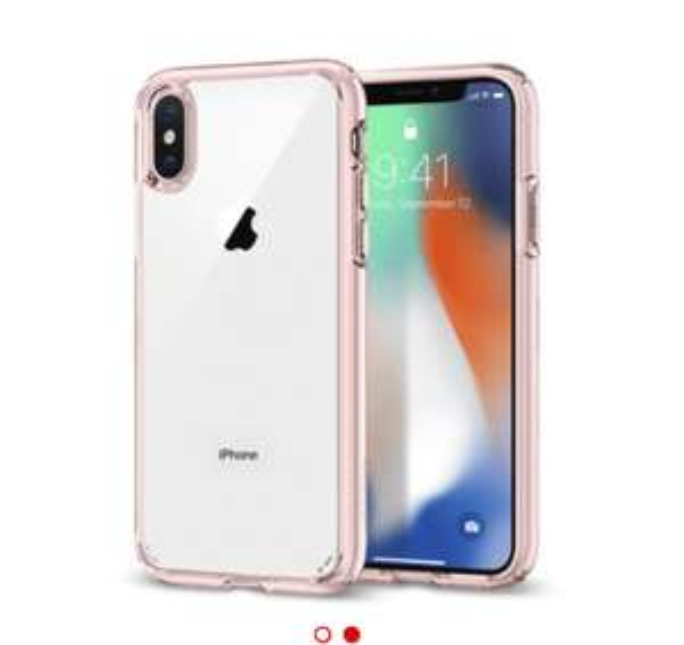 SPIGEN Ultra Hybrid iPhone X (rood & roze) @Mediamarkt