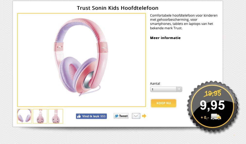 Trust  Sonin Kids koptelefoon