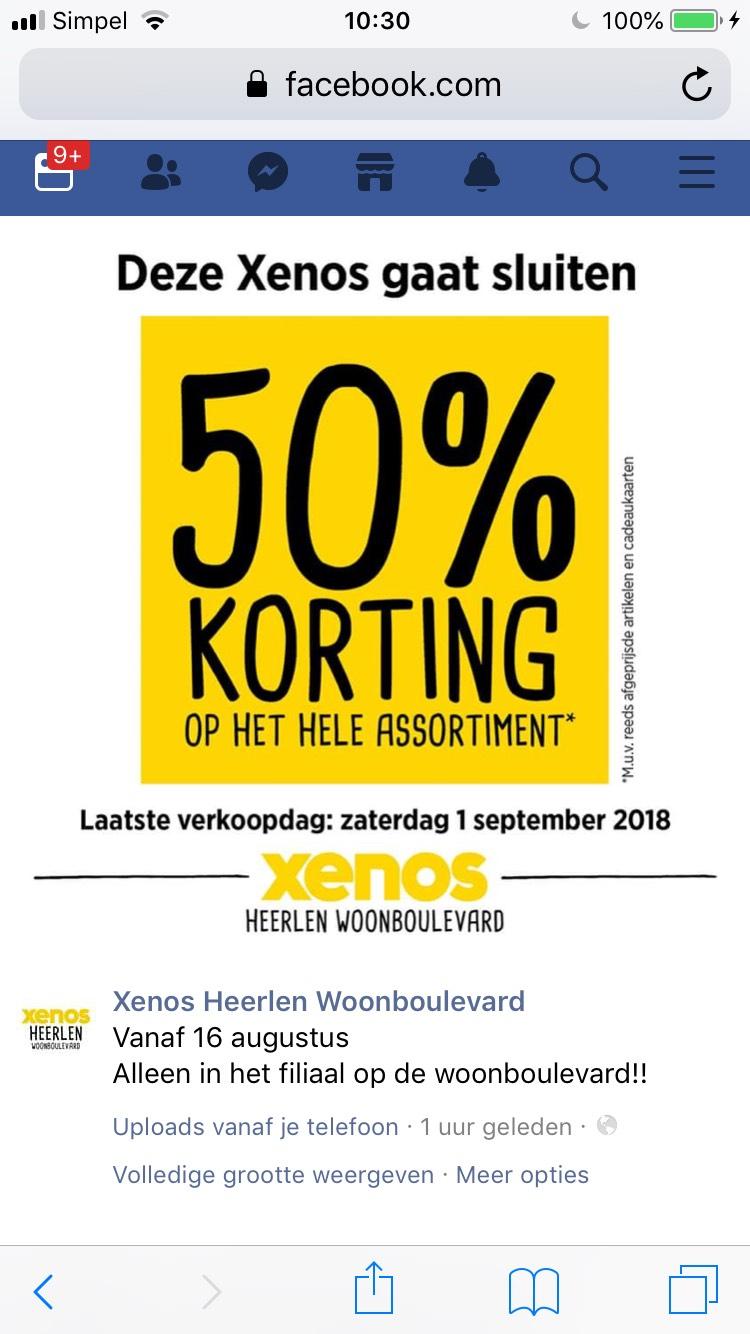 70% korting op het gehele assortiment @Xenos Heerlen Woonboulevard