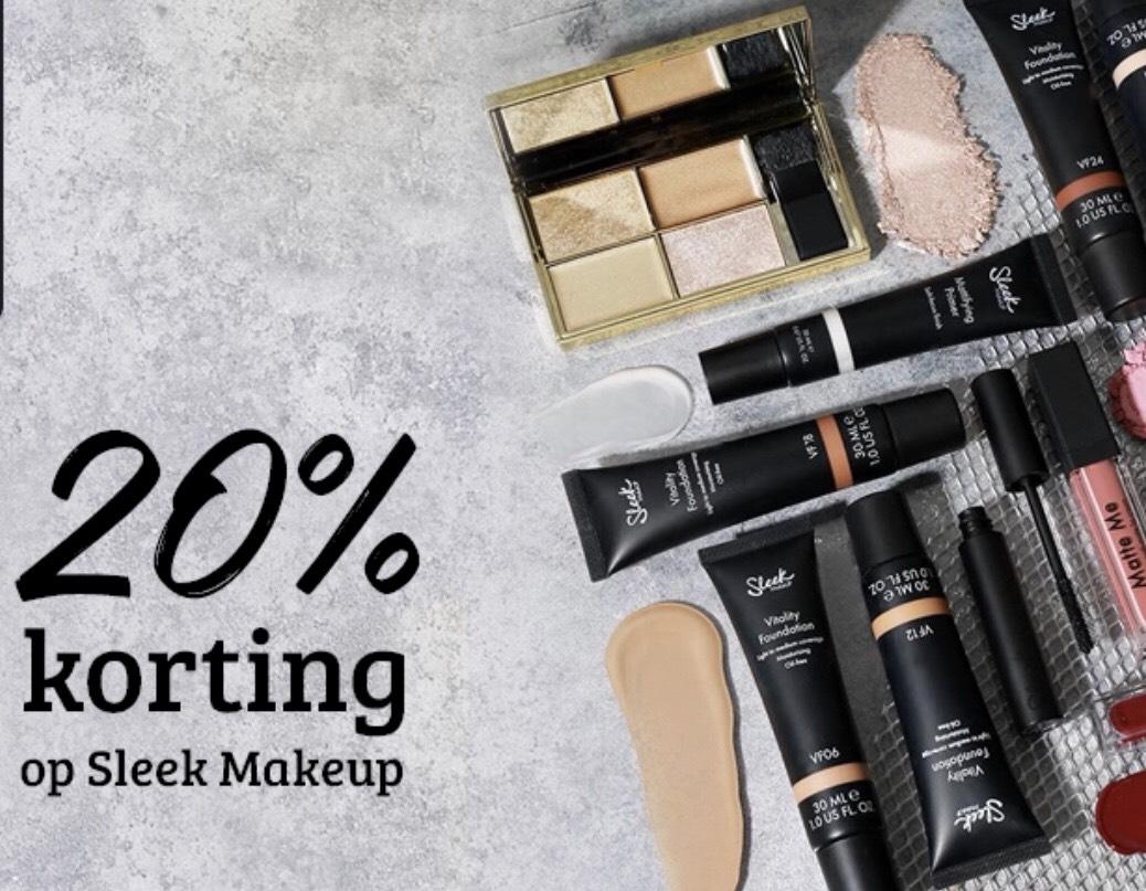 20% korting op Sleek makeup