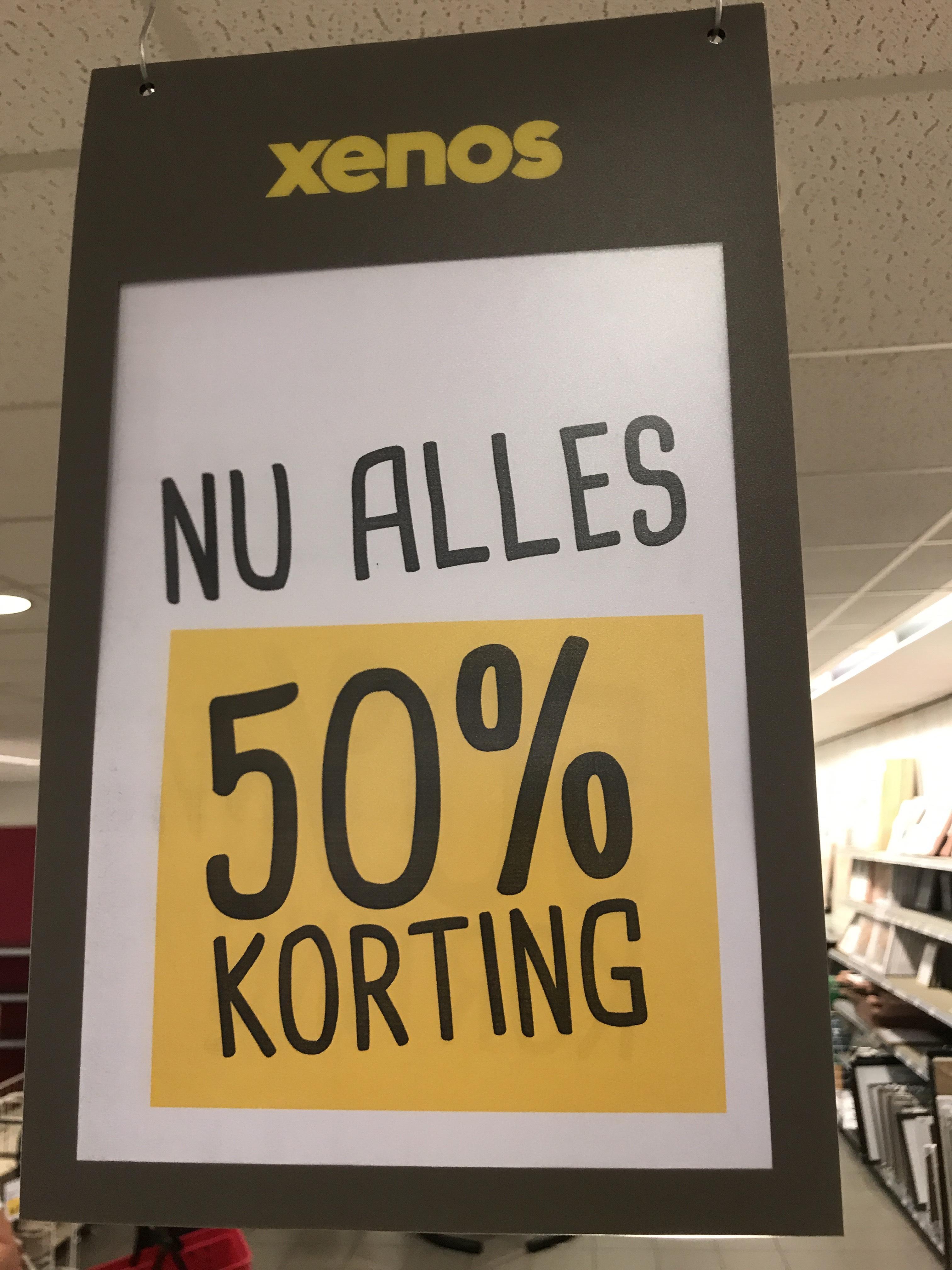 XENOS Eindhoven (Centrum) nu alles 50% korting!