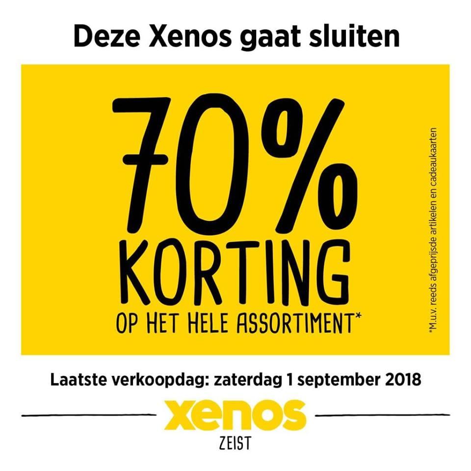 Update : 70% korting op het gehele assortiment @Xenos Zeist