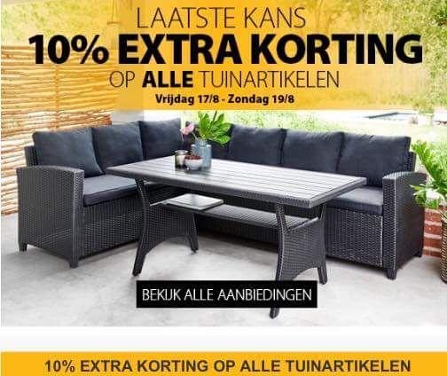 (JYSK) 10% extra korting op alle tuinartikelen. Op = op!
