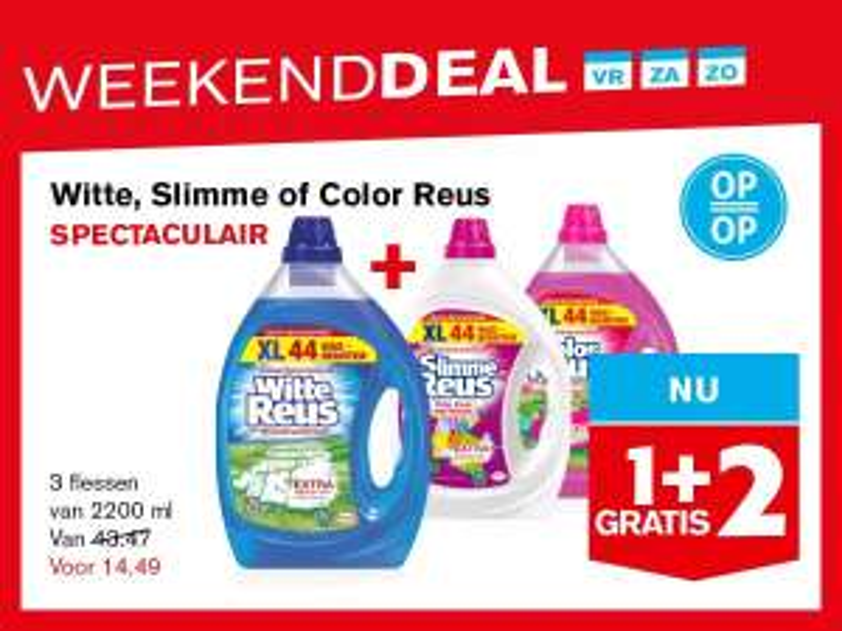 Hoogvliet - Witte/Slimme reus 1+2 gratis