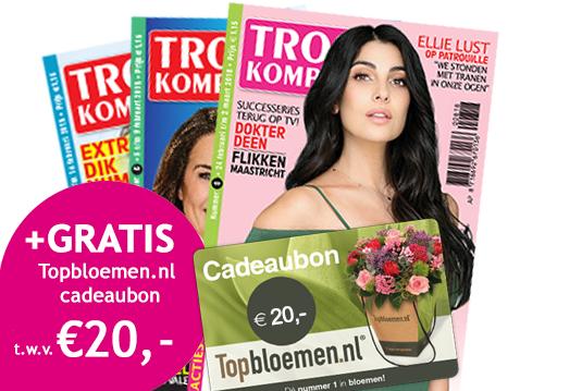 Topbloemen.nl kadobon van €20 bij half jaar Troskompas (€15)