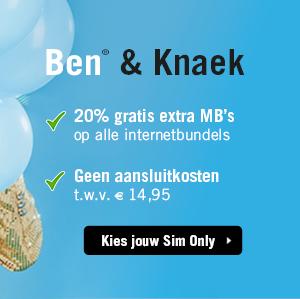 20% extra MB's bij Ben (ook bij verlengen) @ben.nl