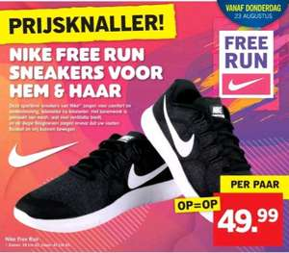 @Lidl, Nike free run sneakers €49.99