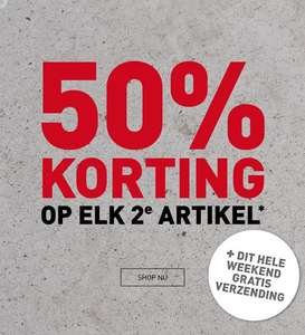 Dit weekend: 2e artikel 50% korting + gratis verzending op artikelen van Wildebeast, INQ PUMA, SPEX en Eurohike @ Perry Sport