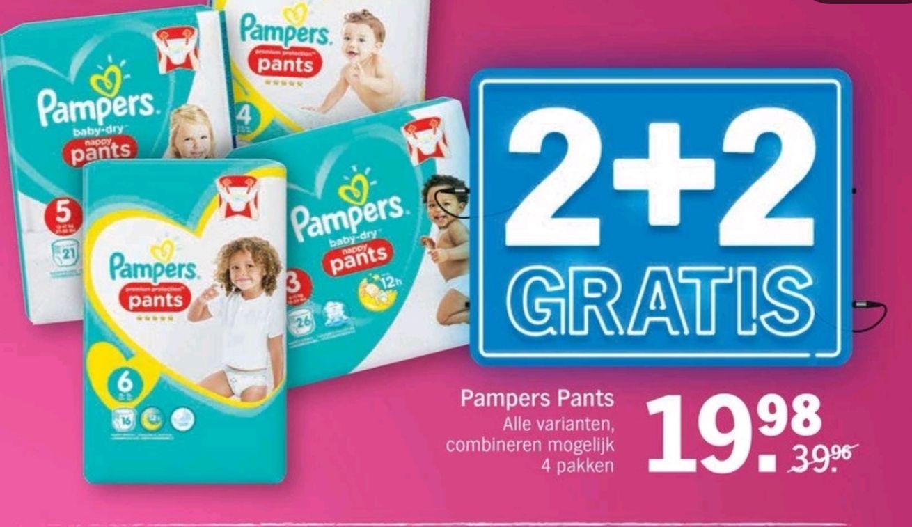 Pampers Pants 2+2 gratis Albert Heijn