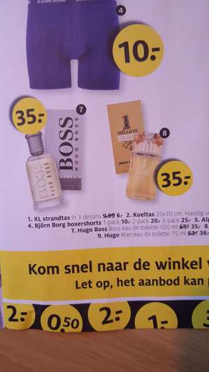 Hugo Boss Bottled 100ml voor € 35