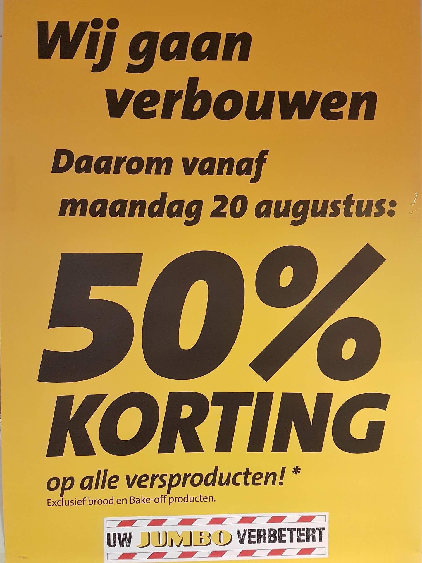 [Lokaal] 50% korting op alle versproducten - Jumbo Botersloot Rotterdam