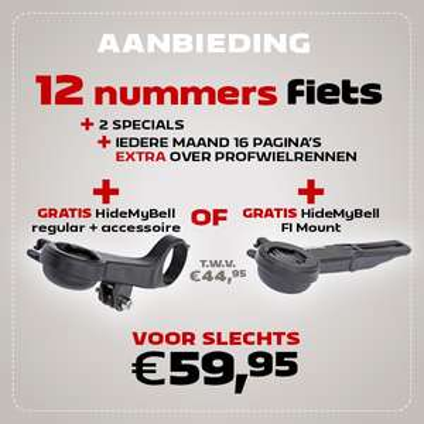 Ontvang een gratis HideMyBell bij abbo op FIETS! Twv: €44,95