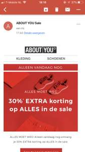 30% extra korting op de sale Aboutyou