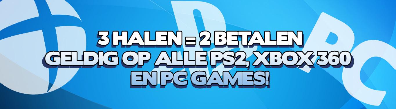 3 halen 2 betalen op alle figures, PS2, Xbox 360 en PC games @ Gameshop Twente