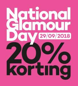Extra dag 20% korting (National Glamour Day)