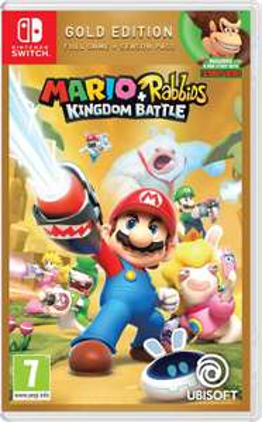Mario + rabbits kingdom battle gold edition voor Nintendo switch