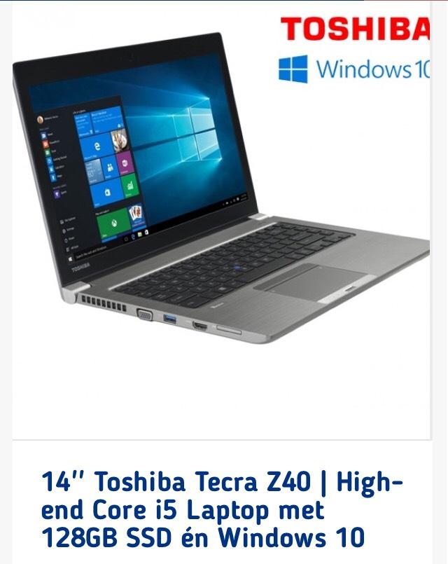 14'' Toshiba Tecra Z40 | i5 Laptop met 128GB SSD