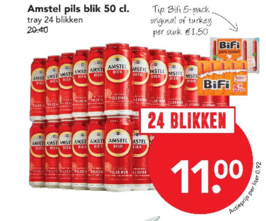 24 halve liters, voor slechts 11 euro