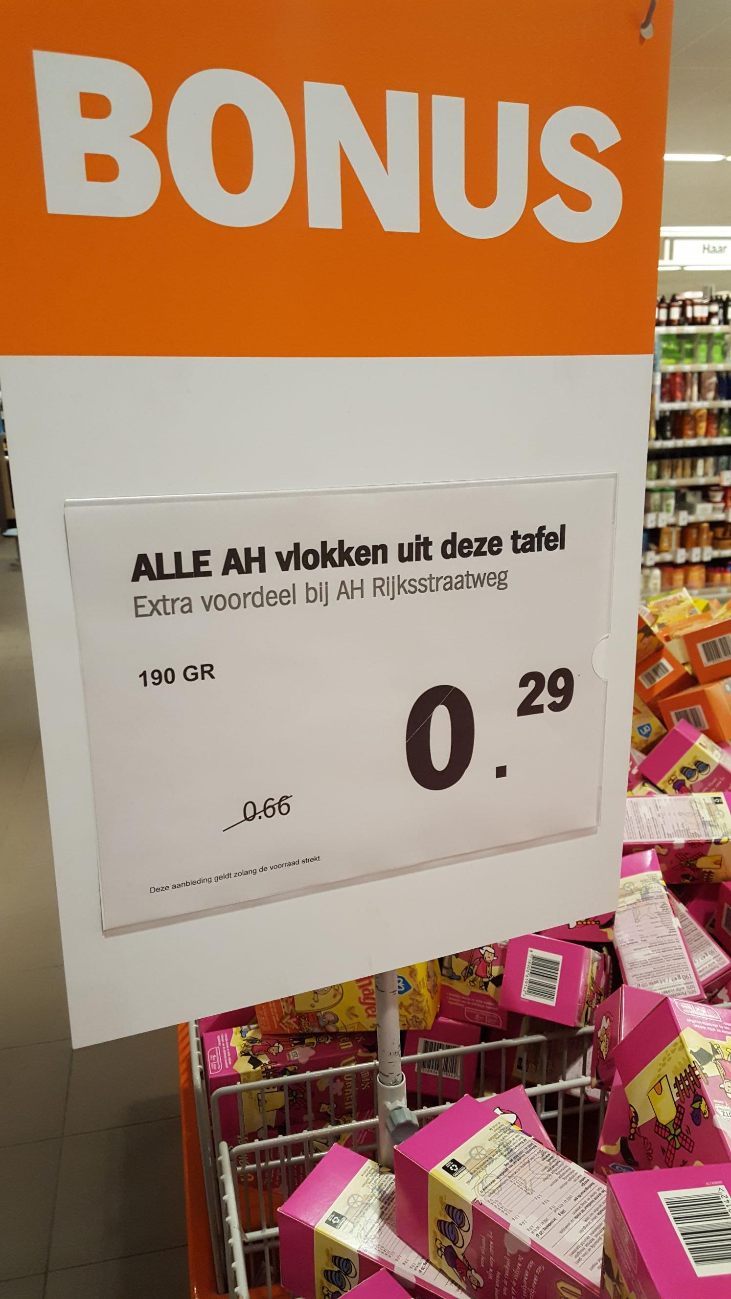[Lokaal] AH vlokken voor €0.29 @ AH Heemskerk