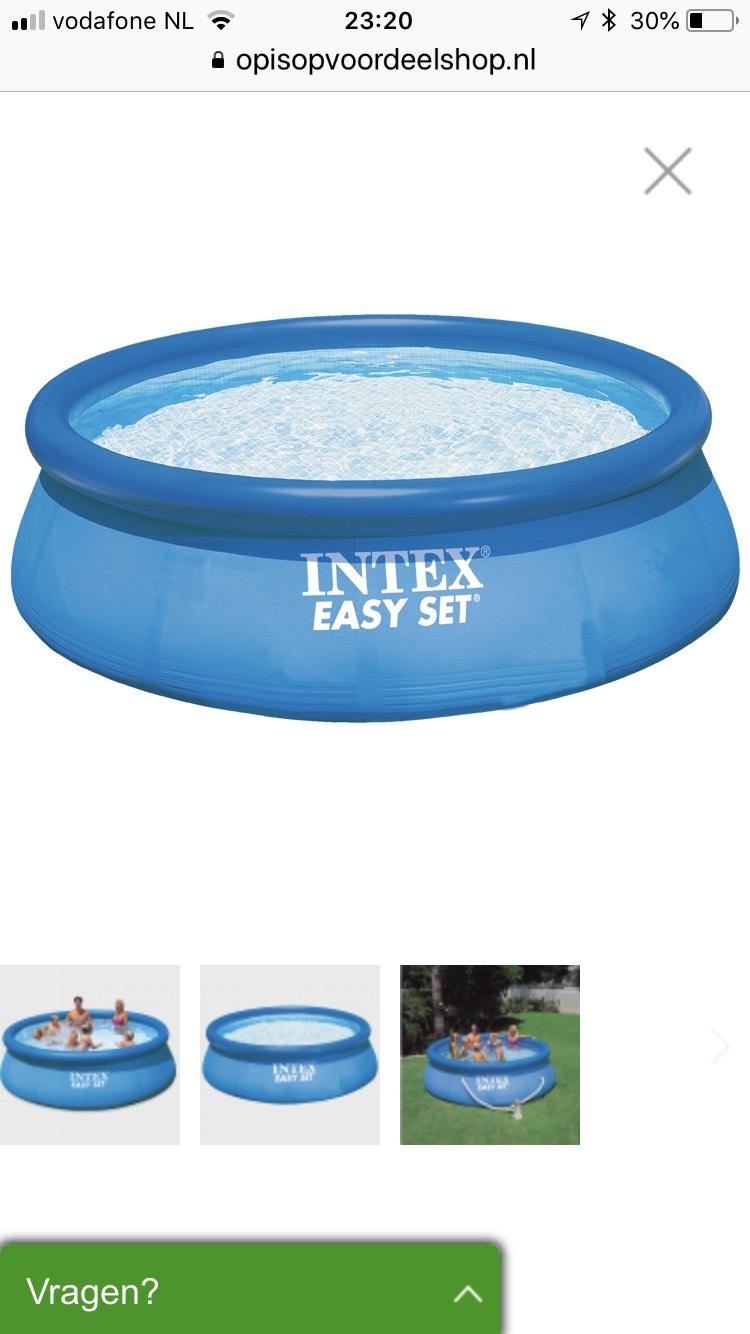 Intex Easy Set Zwembad en filter 366 x 76 cm