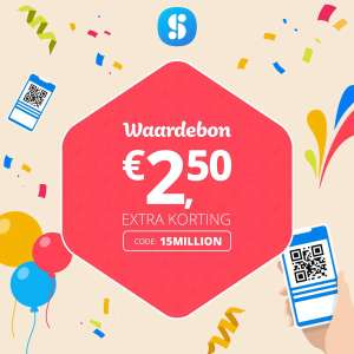 €2,50 korting @ SocialDeal