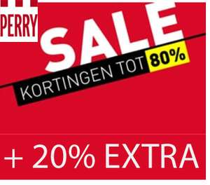 Alle sale 20% extra korting @ Perry Sport