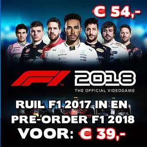 Ruil F1 2017 in en pre-order F1 2018 voor €39 (PS4/ONE) @ Gameshop Twente