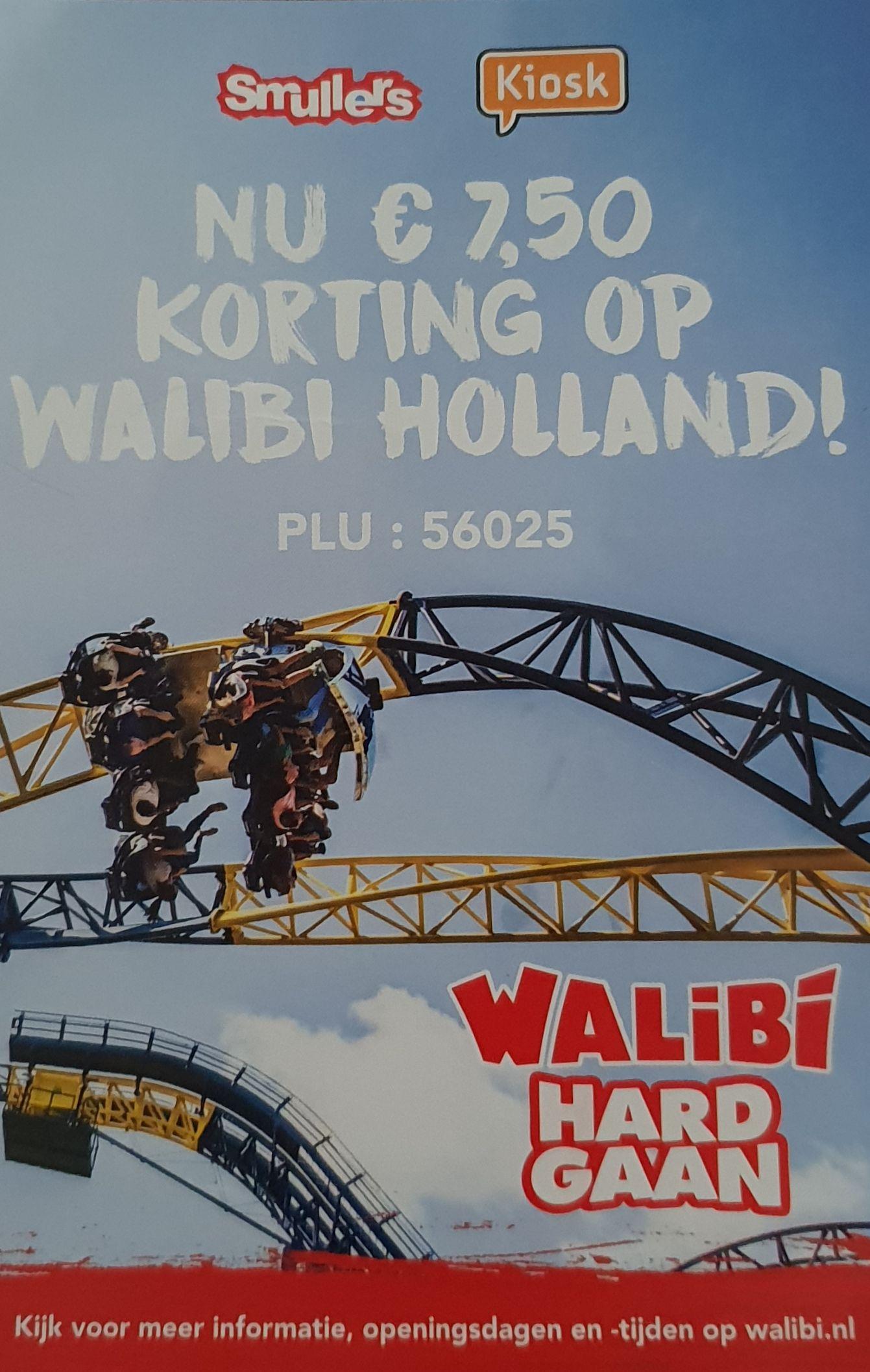 7,50 korting op Walibi Holland bij aankoop van Coca Cola producten @ Kiosk