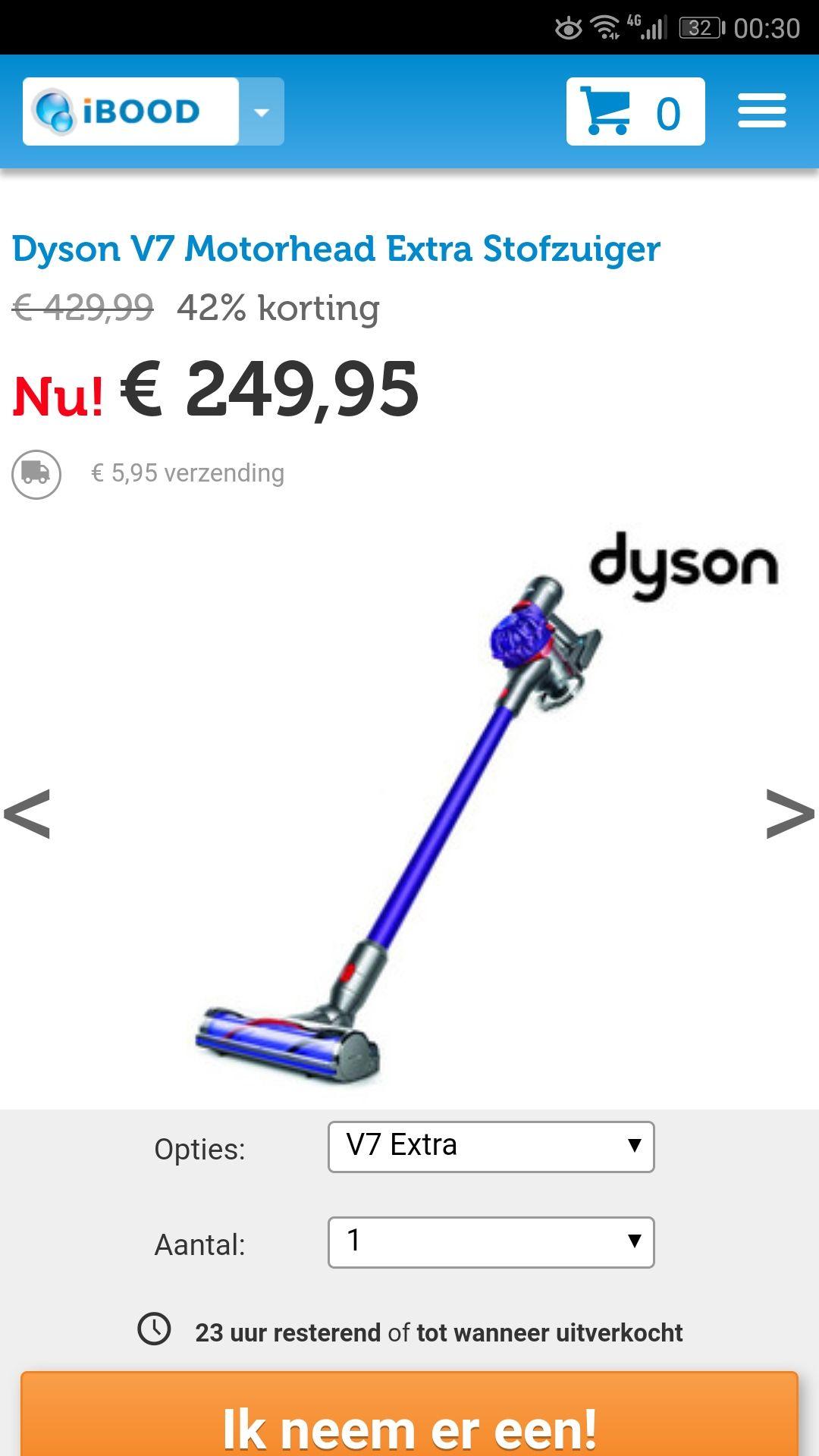 Dyson V7 Motorhead Extra Stofzuiger