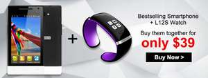 M-HORSE H3039 4'' Smartphone + L12S Bluetooth Watch voor €34,21 @ DealsMachine