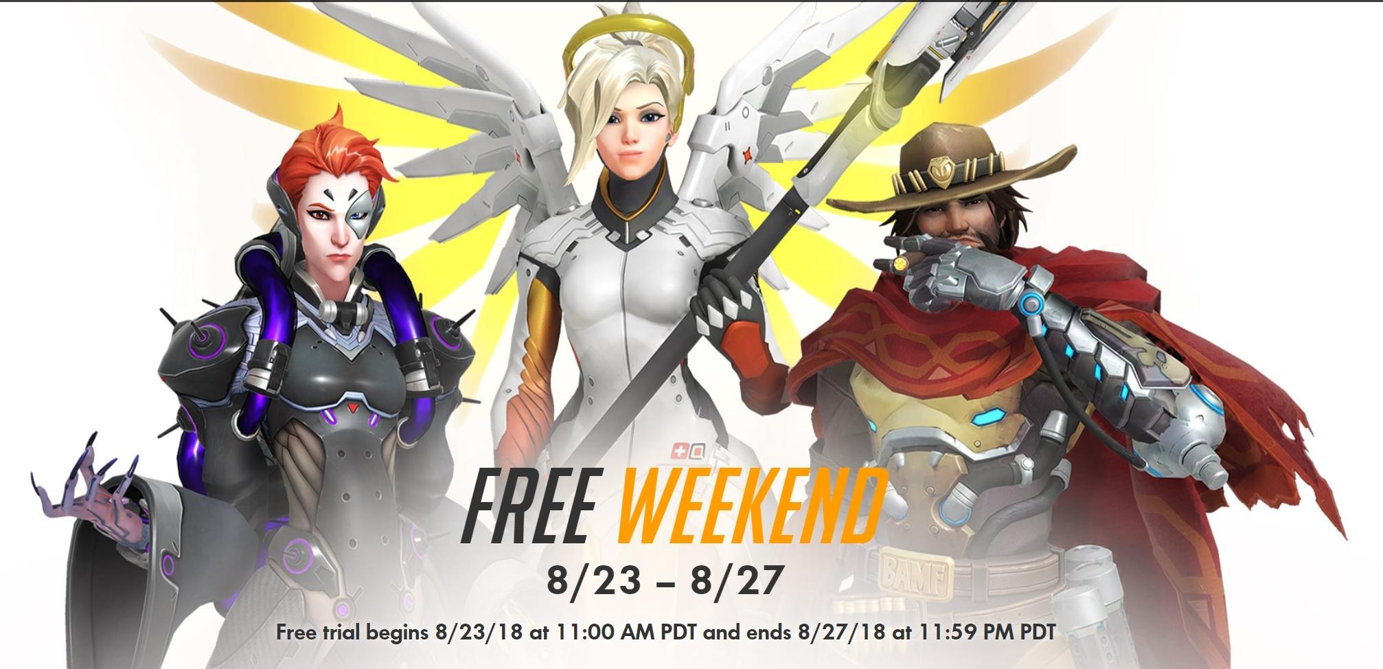 Overwatch Gratis Weekend van 23 t/m 28 augustus op PC, Xbox One en PS4