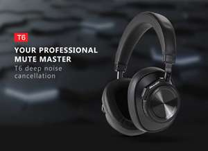 Bluedio T6 (Active Noise Cancelling Bluetooth Hoofdtelefoon)