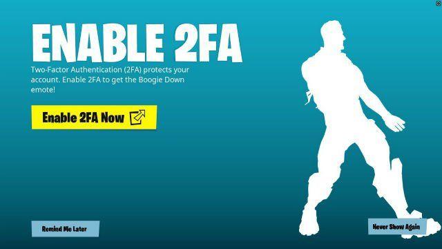 Fortnite: Gratis Boogie Down Emote bij instellen 2 staps verificatie @Epicgames