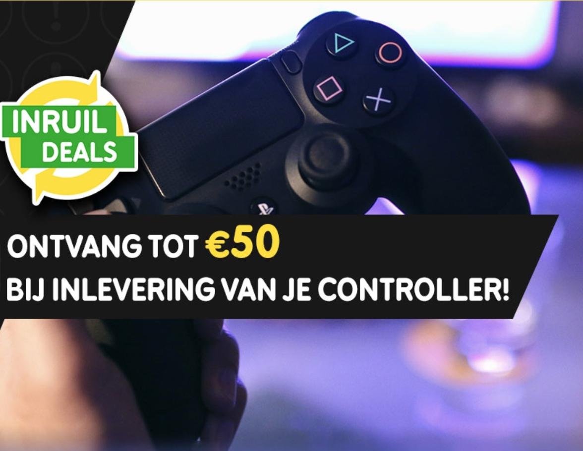 Bij inlevering van één controller ontvang je een waardebon tot €50 @ Gamemania