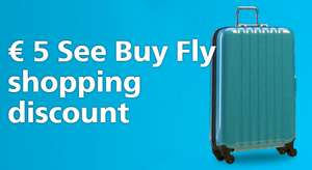 €5 korting Schiphol See Buy Fly bij besteding vanaf €25