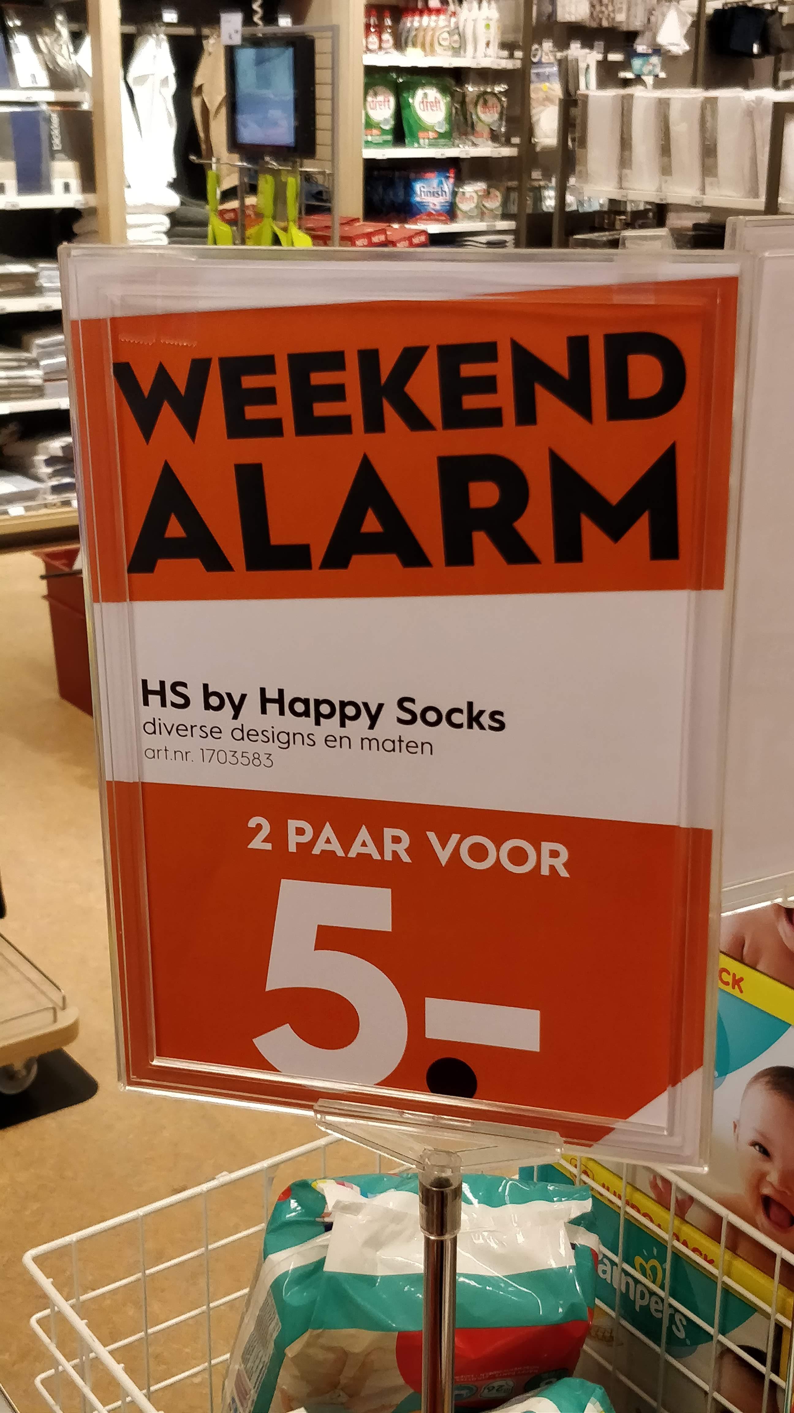 Happy Socks: 2 paar voor 5 euro @Blokker