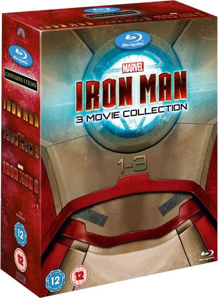 IRON MAN 1-3 Blu Ray Box