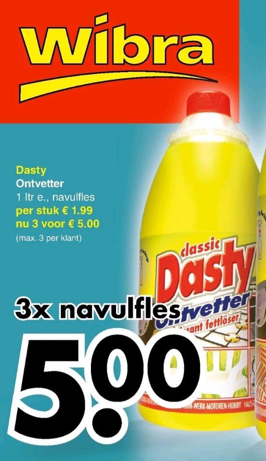 @Wibra, Dasty ontvetter navulfles 3 voor €5.00