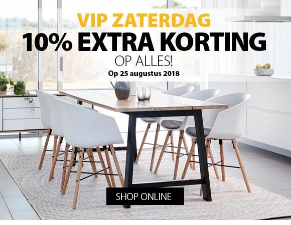 VIP zaterdag 10% korting op alles