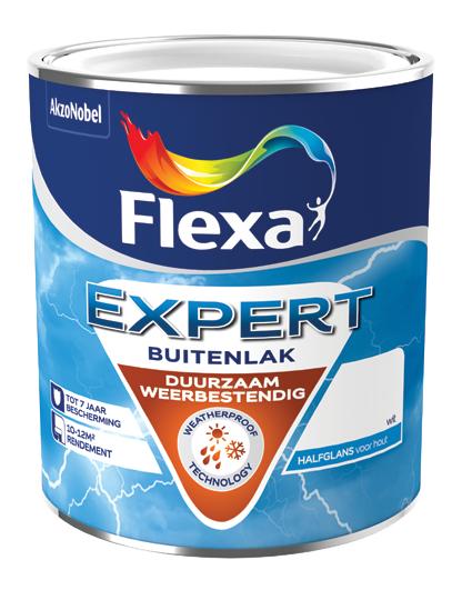 €10,- retour bij aankoop van 1 blik Flexa Expert Buitenlak (Max. 2 blikken/€20 per klant)