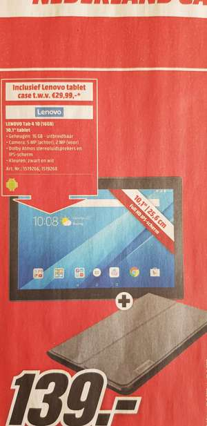 "Lenovo Tab 4 10.1"" incl. Tablet case"