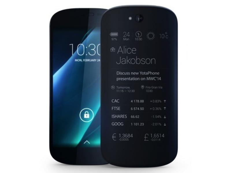 YotaPhone 2 met BEN 100 min/sms (1 maand) voor €278,45 @ Coolblue